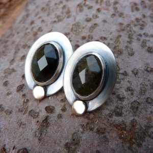 Silver post earrings
